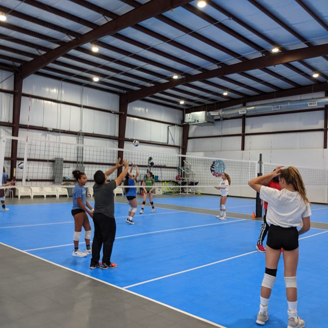 volleyball coaching teaching how to set